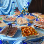 Wall decor, cake and food catering